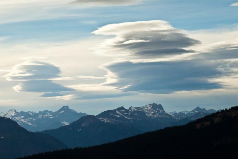 Lenticular clouds. Spells Trouble!